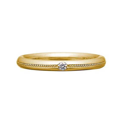 bd834d8040813 K18マリッジリングダイヤS(K18YG)  ブライダル商品|三菱ジュエリーコレクション ...